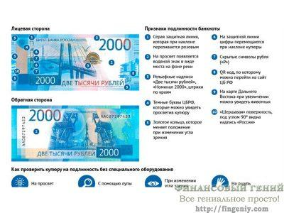 2000 рублей, защитные свойства купюры