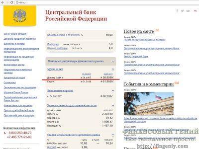 Доллары в рубли по курсу ЦБ РФ